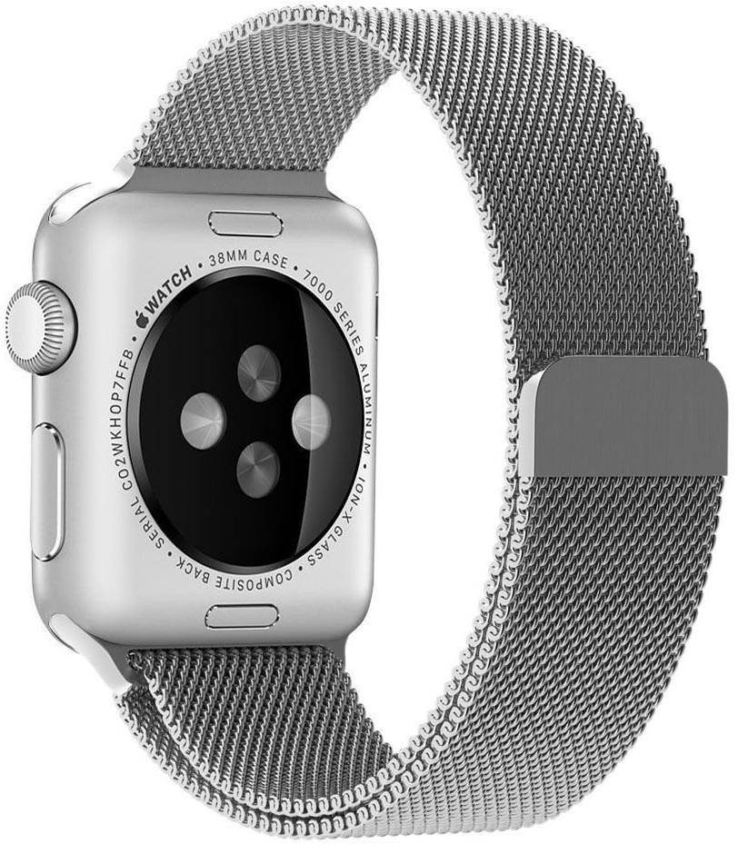 c4862cd04eb Frete Grátis- Pulseira Milanese Apple Watch Prata 38mm - R  87