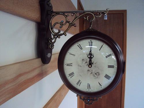 frete grátis relógio de parede sx estação dupla face retrô