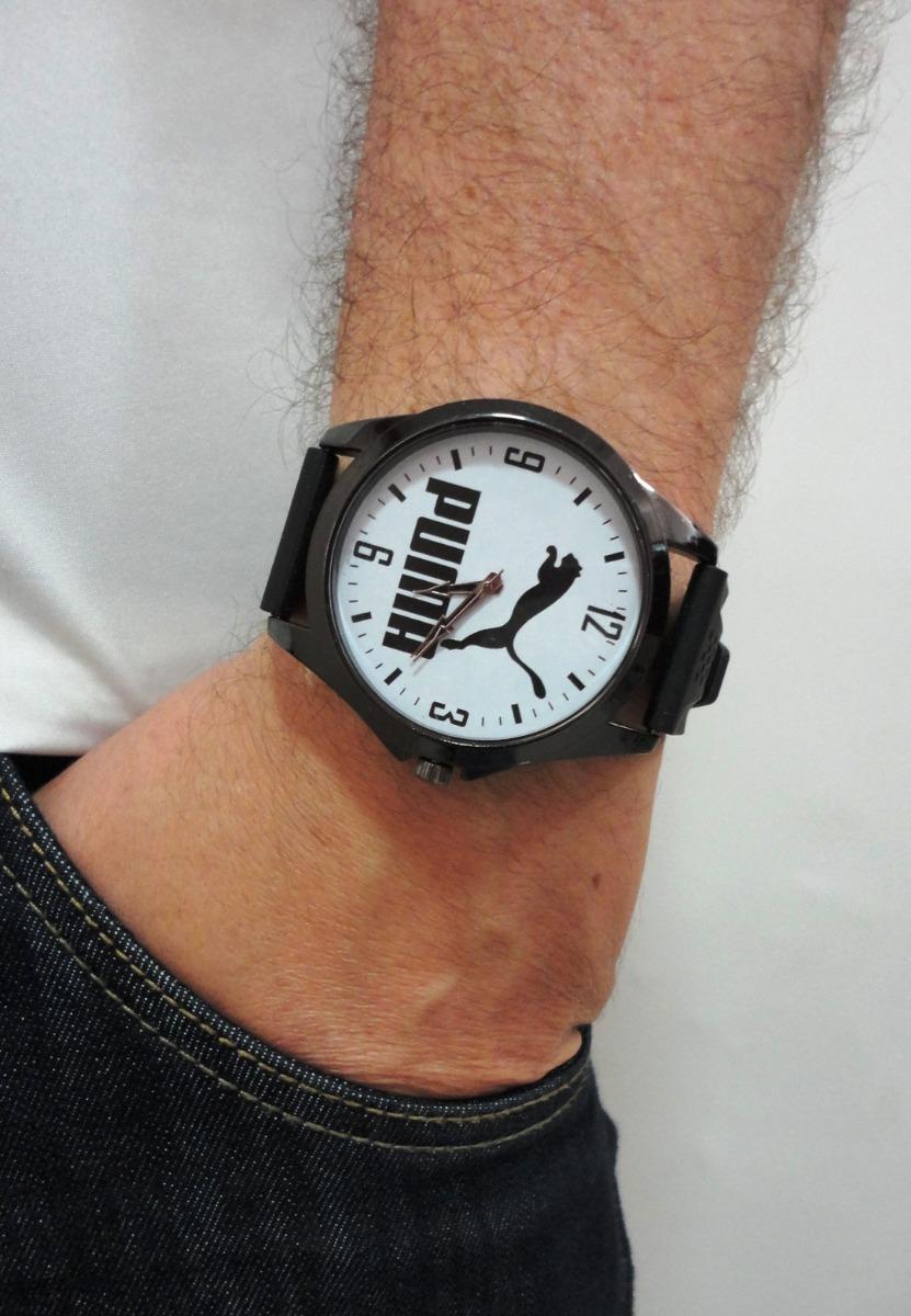 cbdc1785fd3 frete grátis relógio masculino esportivo branco preto fosco. Carregando  zoom.