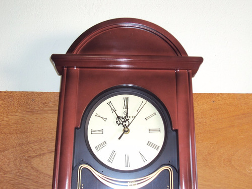 frete grátis relógio parede 69cm pêndulo lincoln haller