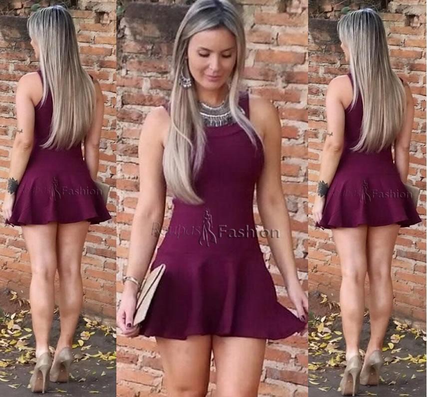 Vestido na moda curto