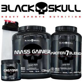 e0ad60978 Whey Isolado 3 Kg - Whey Protein Black Skull para Massa Muscular no Mercado  Livre Brasil
