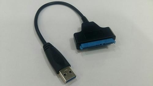 (frete r$15) cabo adaptador usb 3.0 hd ssd sata 22 pino 2.5