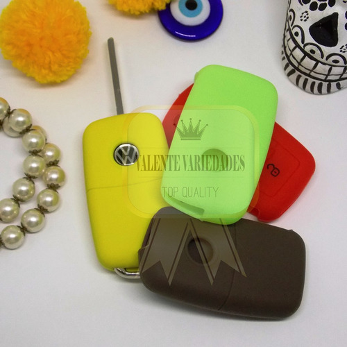 frete r$9 capa silicone chave canivete vw gol fox voyage up!