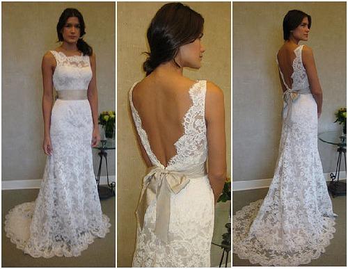 2077ed225a Frete Só 15 Vestido Noiva Renda Longo Sereia Decote Costas - R  699 ...