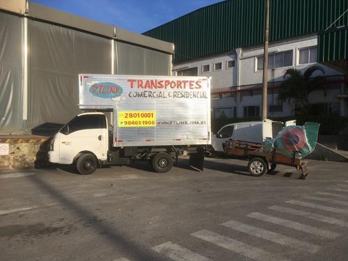 fretes transportes carretos van iveco baú com plataforma sp