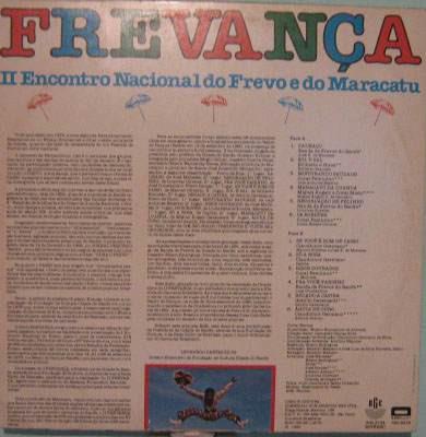 frevança -  2º encontro nacional do frevo e do maracatu-1980