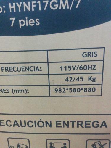 frezer - freezer - congelador hyundai 7 pies - 200lt remate