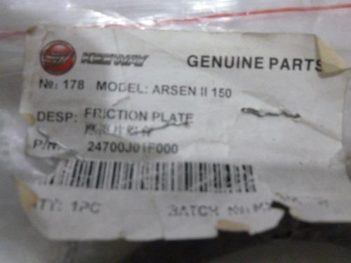 friction plato para moto empire keeway arsen ii 150