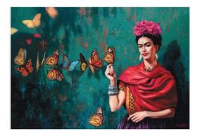 Frida Kahlo Bastidor En Tela Canvas 120 Cm X 80 Cm