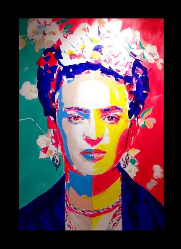 frida kahlo colores,  lienzo canvas decorativo
