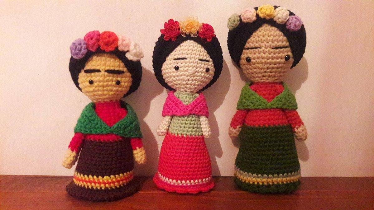 Amigurumi Frida Kahlo : Frida kahlo amigurumi tejida bs en mercado libre