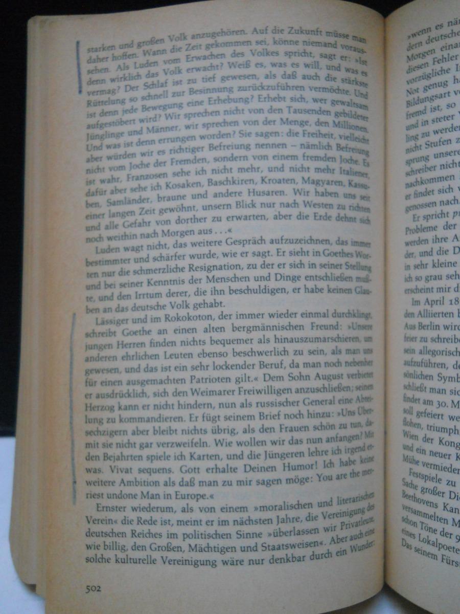Friedenthal Goethe Sein Leben Und Seine Zeit En Alemán 16000