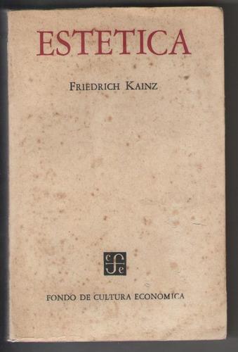 friedrich kainz - estética - f. c. e.