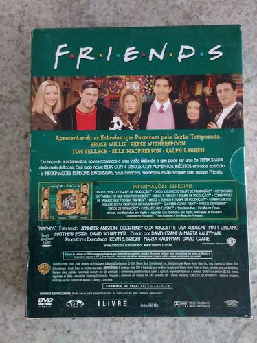 friends 6º temporada box c/ 4 dvds digipack original