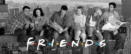 friends - caneca preta de louça