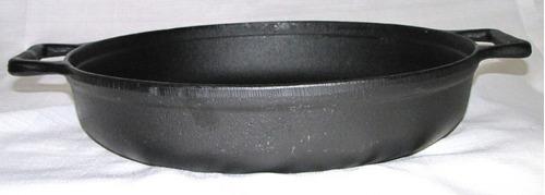 frigideira de ferro fundido 37 cm lisa, paella de ferro