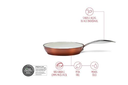 frigideira - unique ø 24 x 5 cm 1,5l - caramelo - brinox