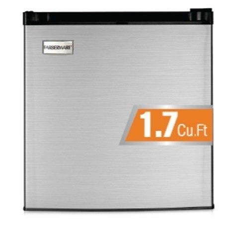 frigobar 1.7 pies color plata marca farberware fw09322