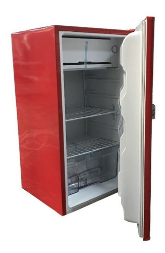 frigobar mayware color rojo bc-90r acero inoxidable