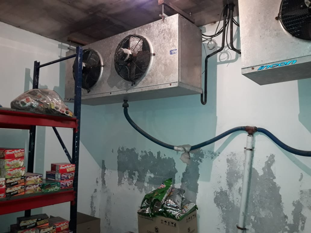 frigorifico galpon con 2 camaras instaladas