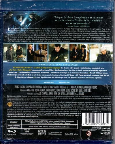 Fringe/ La Gran Conspiración4 Cuarta Temporada Cuatro Bluray ...