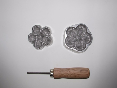 frisador eva - camélia 9 cm - em alumínio