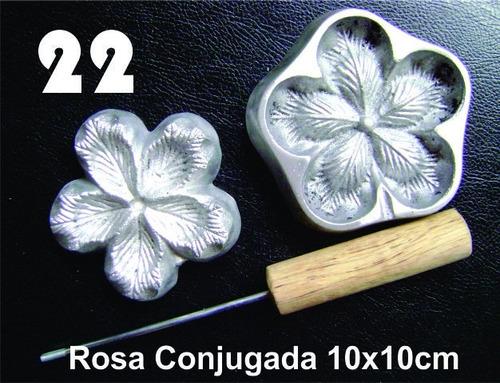 frisador modelagem de flores tecidos e eva rosa conjugada 22