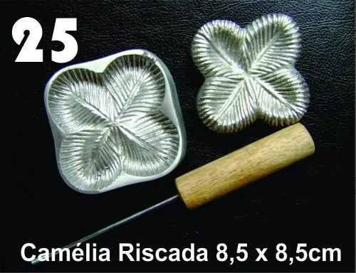 frisador modelagem de flores tecidos eva camelia riscada 25