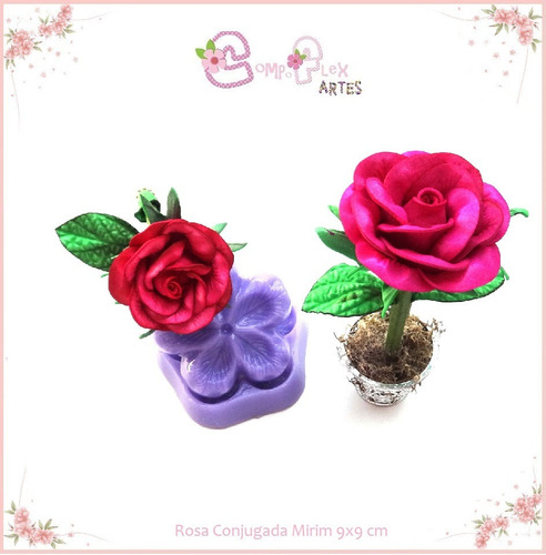 frisador resina para flores eva kit 5 peças rosas e violeta