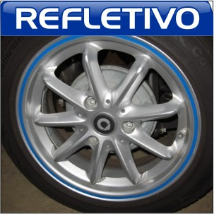 friso adesivo curvo 5mm refletivo roda fita moto carro honda