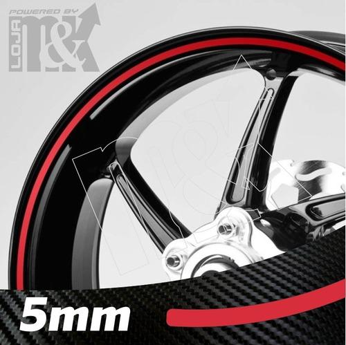 friso adesivo curvo 5mm refletivo roda moto honda yamaha etc