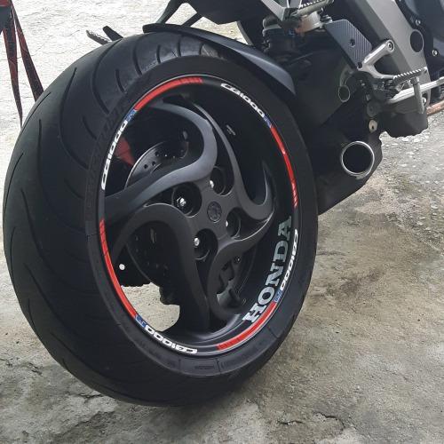 Patricia Valença Artesanato ~ Friso + Adesivo Interno Roda Refletivo Moto Honda Cb 1000 R R$ 120,48 em Mercado Livre