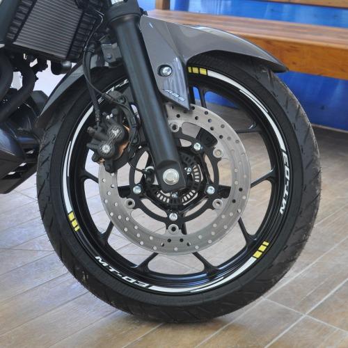 friso adesivo refletivo m6 roda moto yamaha mt03 mt-03 mt 03