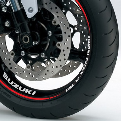 friso + adesivo refletivo roda m4 moto suzuki gsx r 750 srad