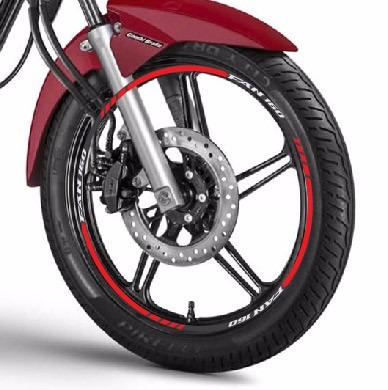 friso adesivo refletivo roda tuning m1 moto honda cg fan 160