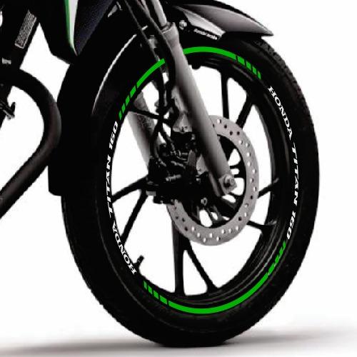 friso adesivo refletivo roda tuning m4 moto honda titan 160