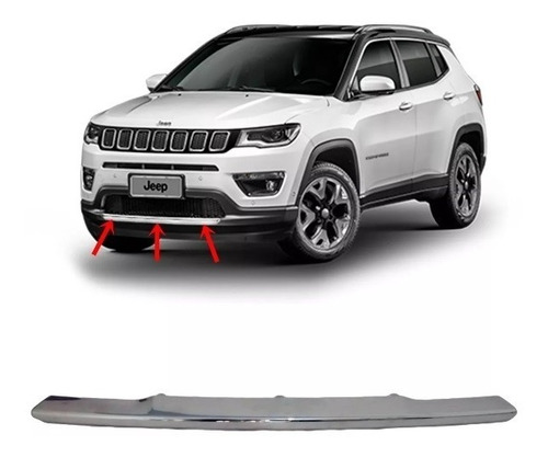 friso cromado parachoque frontal inferior - jeep compass