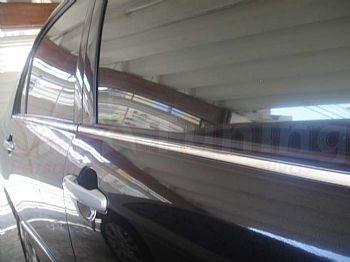 friso cromado pestana base janela corolla 03 04 05 06 07 08