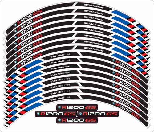 friso de roda aro adesivo refletivo bmw r 1200 gs fri019