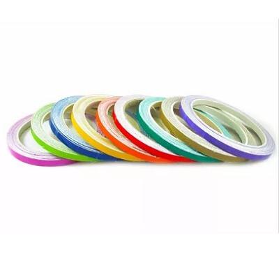friso de roda fluorescente vermelho c/aplicador para uso diu
