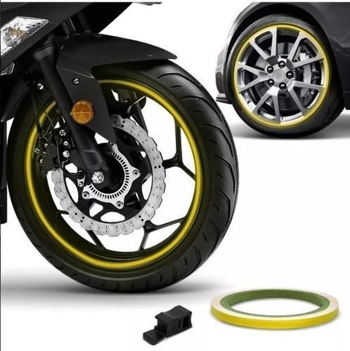 friso de roda refletivo 6mm aplicador adesivo amarelo 1002