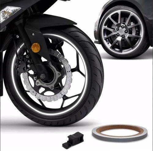 friso de roda refletivo 6mm aplicador adesivo branco 1006