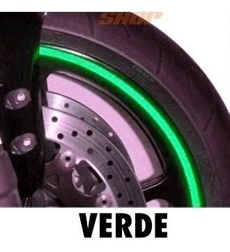 friso de roda refletivo 6mm aplicador adesivo verde alcom