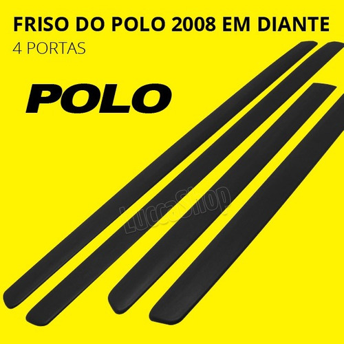 friso do polo 4 portas hatch ou sedan 2008 09 10 11 12 13 14