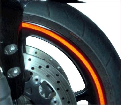 friso kit fita faixa refletivo 7mm p/ motos + brinde logos
