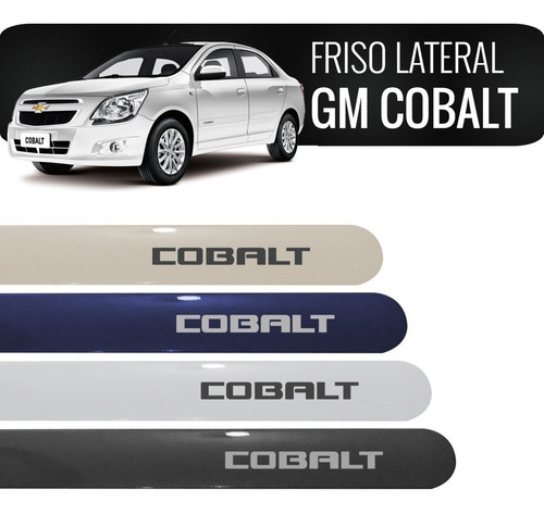 friso lateral chevrolet cobalt preto carbon flash original