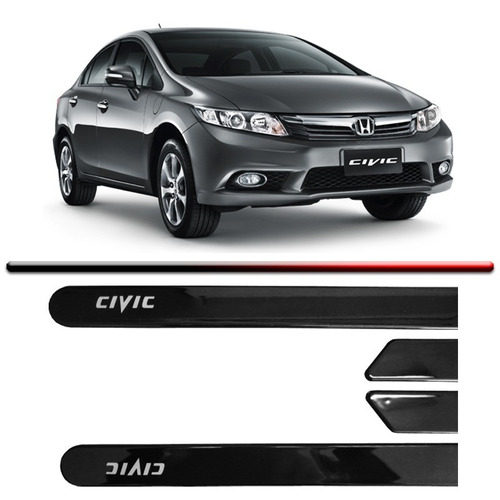friso lateral civic 2015 cinza cor original