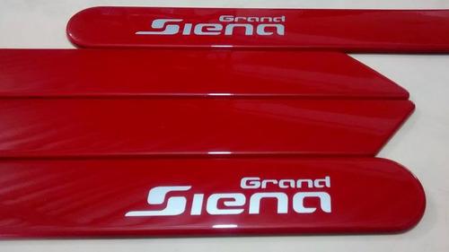 friso lateral fiat grand siena vermelho alpine cor original