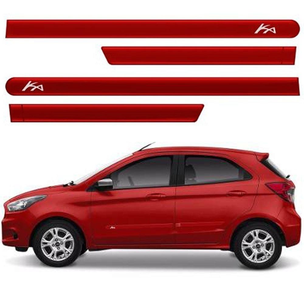 Friso Lateral Ford Ka Hatch Vermelho Arpoador 15 19 Cor Orig R